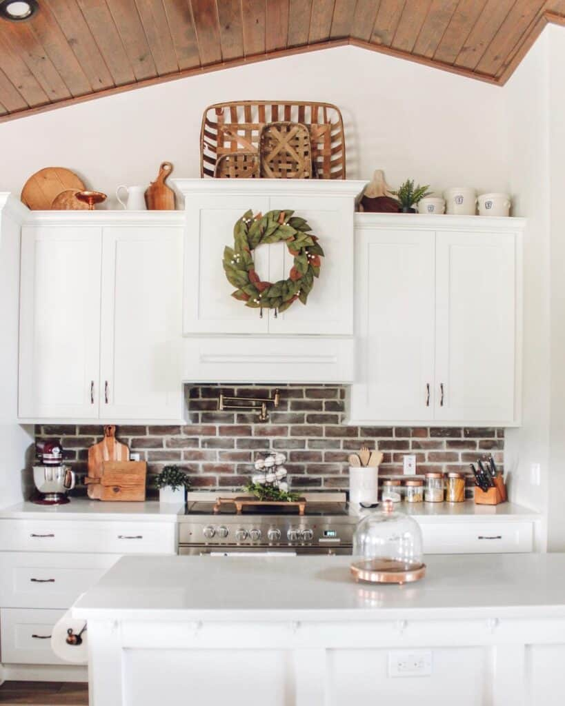 decorating on top of kitchen cabinets